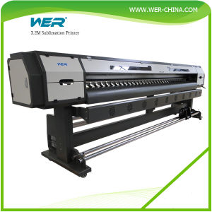 Wer 3.2m High Speed Indoor Sublimation Inkjet Printer pictures & photos