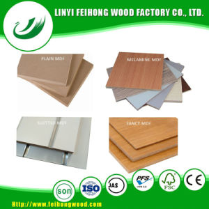 Plain MDF/Melamine MDF/Fancy MDF/ Decorative MDF with Grooves pictures & photos