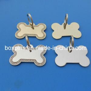 Blank Bone Shape Diamond Dog Tag