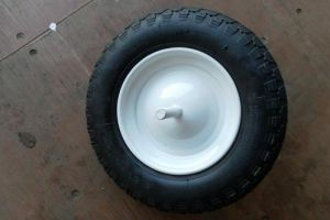 White Rim Rubber Wheel 14*3.50-8