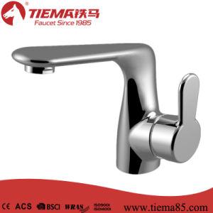 2015 New Design Deck Mounted Brass Basin Faucet (ZS80103)