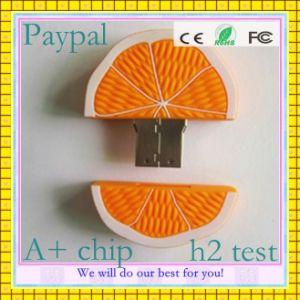 8GB Orange Shape USB Flash Drive (GC-O005) pictures & photos