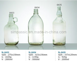 Clear Rum Bottle / Clear Wine Bottle pictures & photos