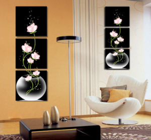 3 Piece Hot Sell Modern Wall Painting Flowers Painting Room Decor Wall Art Picture Painted on Canvas Home Decoration Mc-216 pictures & photos