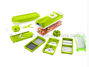 12-Set, Plus Green Vegetable Multifunction, Easy to Store, Multi Function Vegetable Chopper