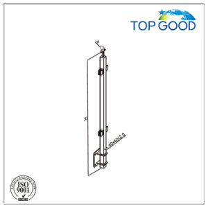 Stainless Steel Railing Post with Glass Clamp and Wall Mounted Bracket pictures & photos