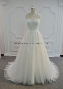 Hot Sale A Line Tulle Wedding Dress with Keyhole Back pictures & photos