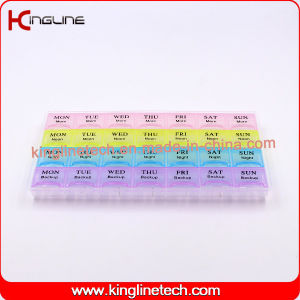 wholesale eco friendly 28 cases pill box, pill container, 7 days pill box, weekly pill case, pill storage container, pillbox pictures & photos