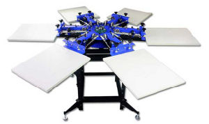 Full Automatic 6-Color Garment Screen Printer pictures & photos