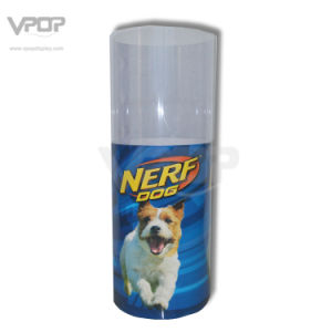 Nerf Dog Paper Round Dumb Bin with Clear PVC Shroud