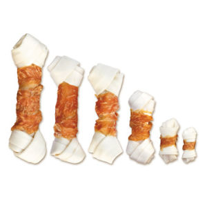 Pet Food: Chicken Jerky Wrapped Bleached Rawhide (CD-08H)
