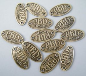 Brass Nameplate, Metal Furniture Label (LH-2003A)