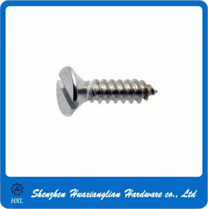 DIN7972 Flat Head Slotted Self Tapping Screw pictures & photos