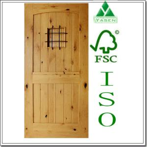 Painted Knotty Alder Entry Door 2015 Design