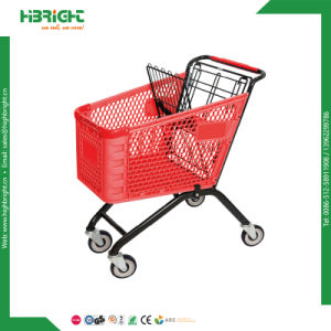 150L Plastic Shopping Cart with Metal Basket for Super Market pictures & photos