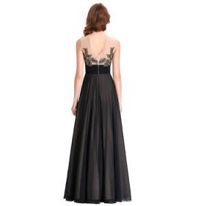 Black Basic Style Chiffon Dress pictures & photos