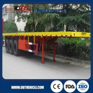 New Flat Bed Tri Axle Trailers Sale to Angola pictures & photos