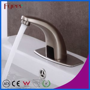 Fyeer Nickle Brushed Washbasin Sensor Tap pictures & photos