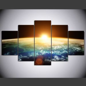 HD Printed Sunrise Painting Group Painting Canvas Print Room Decor Print Poster Picture Canvas Ym-009 pictures & photos