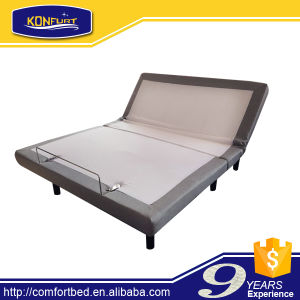 New Product USB Bed Electric Bed Adjustable Bed Frames with Surounding Headboard pictures & photos