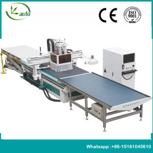 Furniture Cabinet Doors Production Line CNC Nesting Machine with Auto Feeding System pictures & photos