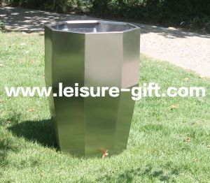 Fo-9047 Stainless Steel Garden Decorative Flower Pot pictures & photos