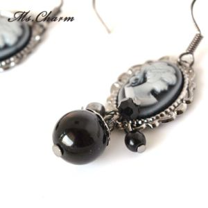 Fashion Jewelry Round Simulated-Pearl Alloy Casting Drop Earring Custom Jewelry pictures & photos