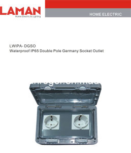 LWIPA-DGSO IP65 Waterproof Double Pole Germany Socket Outlet
