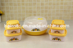 Plastic Food Containers with Microwave Steam Box (LS-2012)
