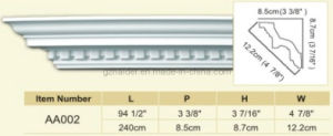 Crown Moulding, Cornice, Polyurethane Cornices Moulding pictures & photos