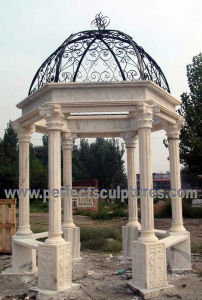 Stone Marble Garden Pavilion for Antique Outdoor Sculpture (GR063) pictures & photos