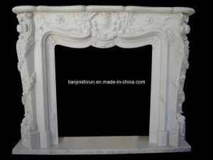 White Marble Fireplace (L1-26) pictures & photos