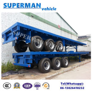 40FT 3 Axle Container Flatbed Trailer for Sales pictures & photos