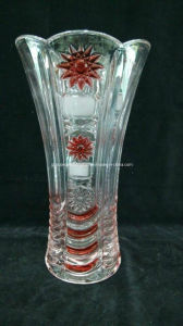Promotional Machine-Made Glass Vase (V-HG10) pictures & photos