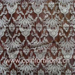 Flocking Organza Curtain Fabric (SHCL00868) pictures & photos