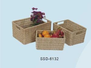 Baskets for Storage Made From Seagrass in Natural Color (SSD-6132)