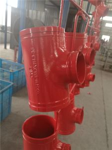 "6""*4"" Grooved Reducing Tee with FM and UL Certifacation, Grooved Fitting pictures & photos"