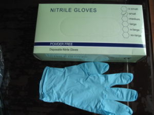 Non Steirle Sky Blue Disposable Nitrile Gloves (020) pictures & photos
