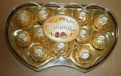 12 Pieces Golden Twins Heart Chocolate (TH12G)