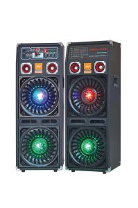 Double 10′′ Professional Stage Speaker with Light F623 pictures & photos