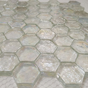 Hexagon Blue Glass Marble Mosaic Tile pictures & photos