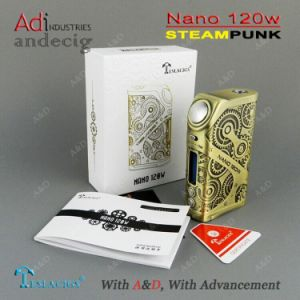 Health E-Cigarette Mods 2017 Tesla Nano 120W Tc E-Cigarette Box Mod 120W Ecigarette Mod pictures & photos