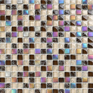 Cracked Mosaic Crystal Glass Mosaic Tile (HGM220) pictures & photos