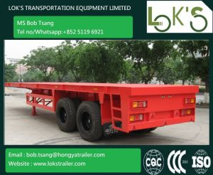 40 Feet Tandem Flatbed Trailer pictures & photos