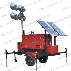 Hybrid Solar and Generator Light Tower (ULT8E) pictures & photos