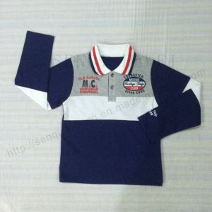 Kids Boy Polo Shirt for Children′s Clothes Sq-6308 pictures & photos