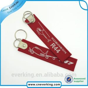 Promotional Durable Woven Embroidery Keychain pictures & photos