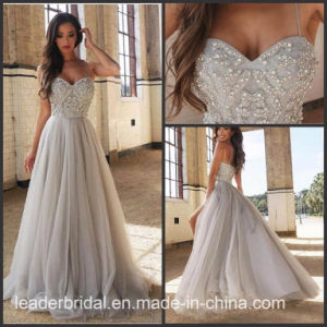 Luxury Evening Prom Gowns Silver Beading Party Dresses Z5083 pictures & photos