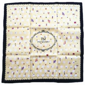 China Factory Produce Custom design Print Large Satin Silk Like Bandana pictures & photos