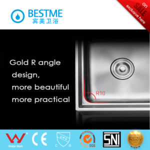 Sanitary Ware Double Sink Steel Kitchen Sink (BS-8002-201P) pictures & photos
